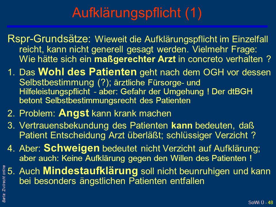 Aufklärungspflicht (1)