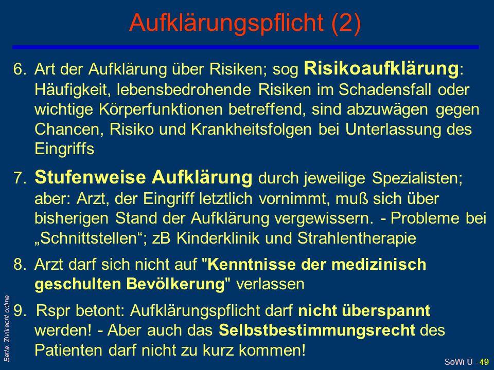 Aufklärungspflicht (2)