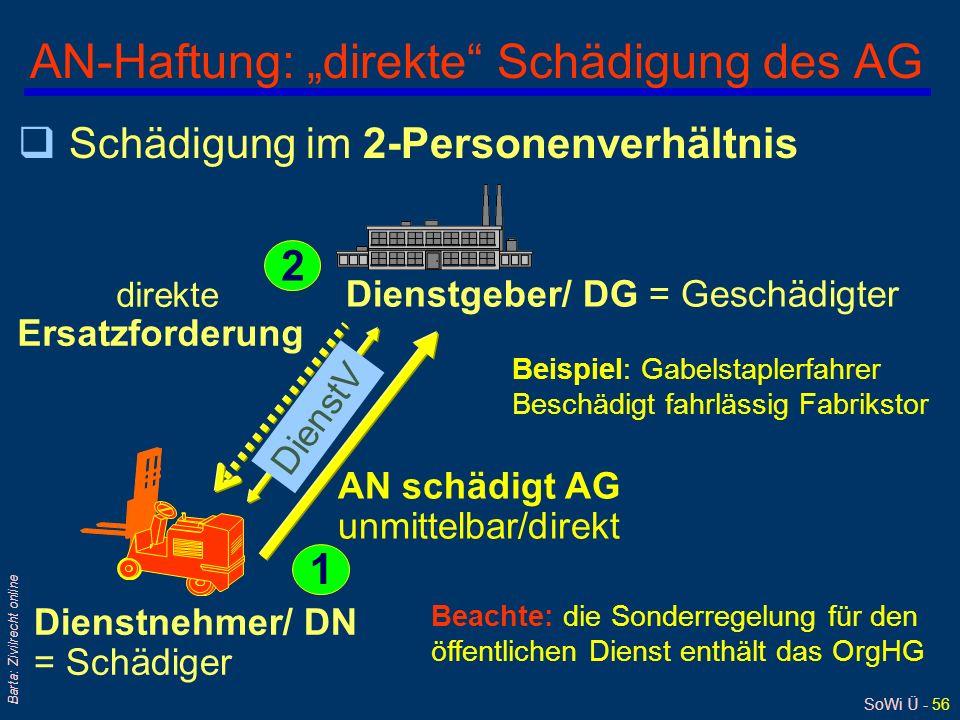 "AN-Haftung: ""direkte Schädigung des AG"