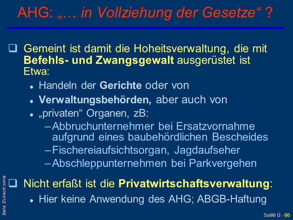 """AHG: """"… in Vollziehung der Gesetze"""