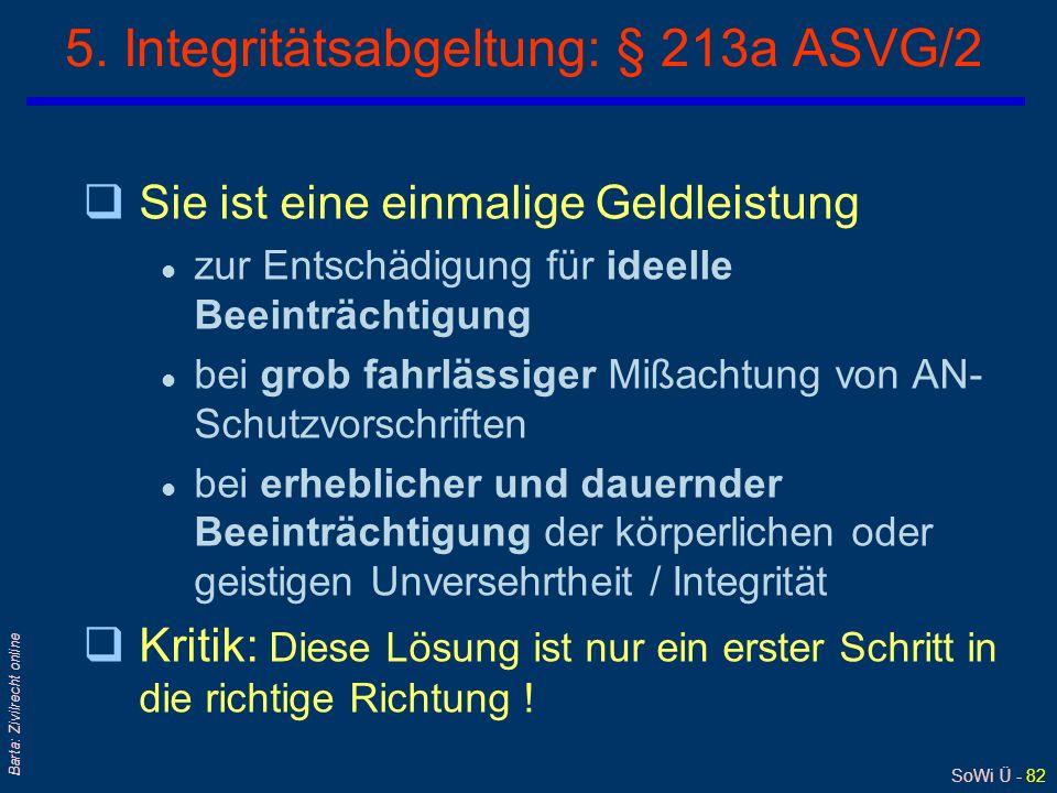 5. Integritätsabgeltung: § 213a ASVG/2