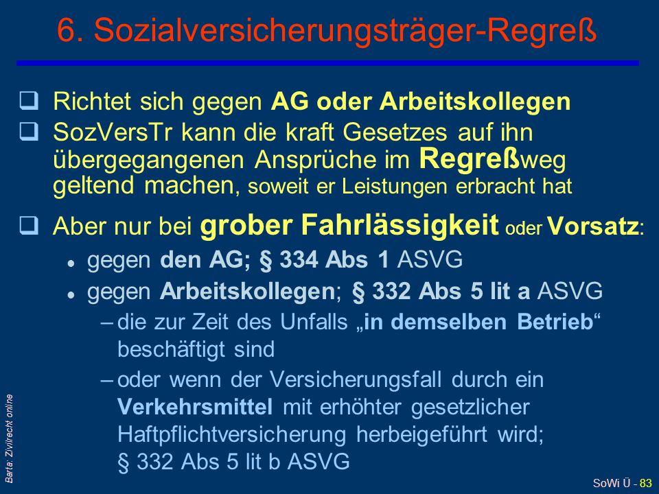 6. Sozialversicherungsträger-Regreß