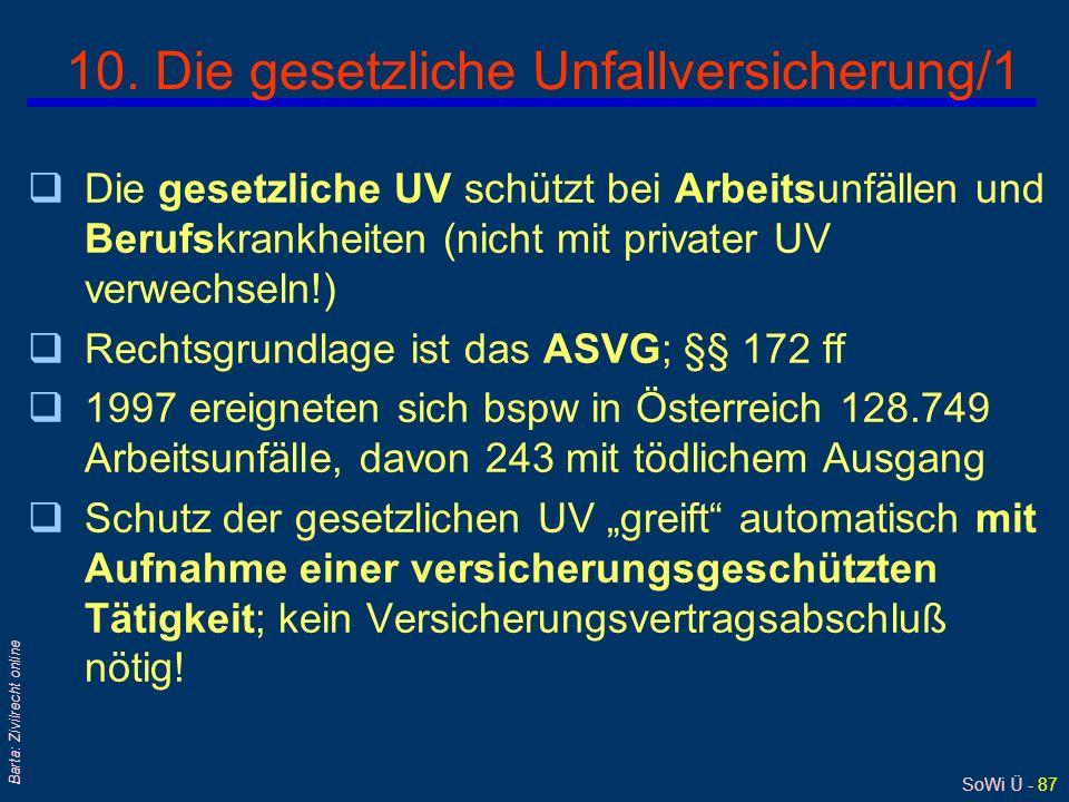 10. Die gesetzliche Unfallversicherung/1