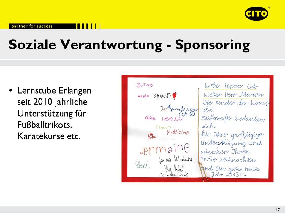 Soziale Verantwortung - Sponsoring