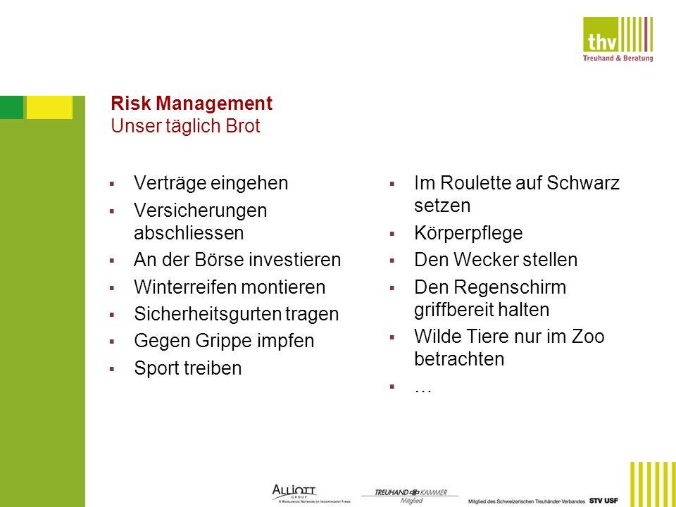 Risk Management Unser täglich Brot