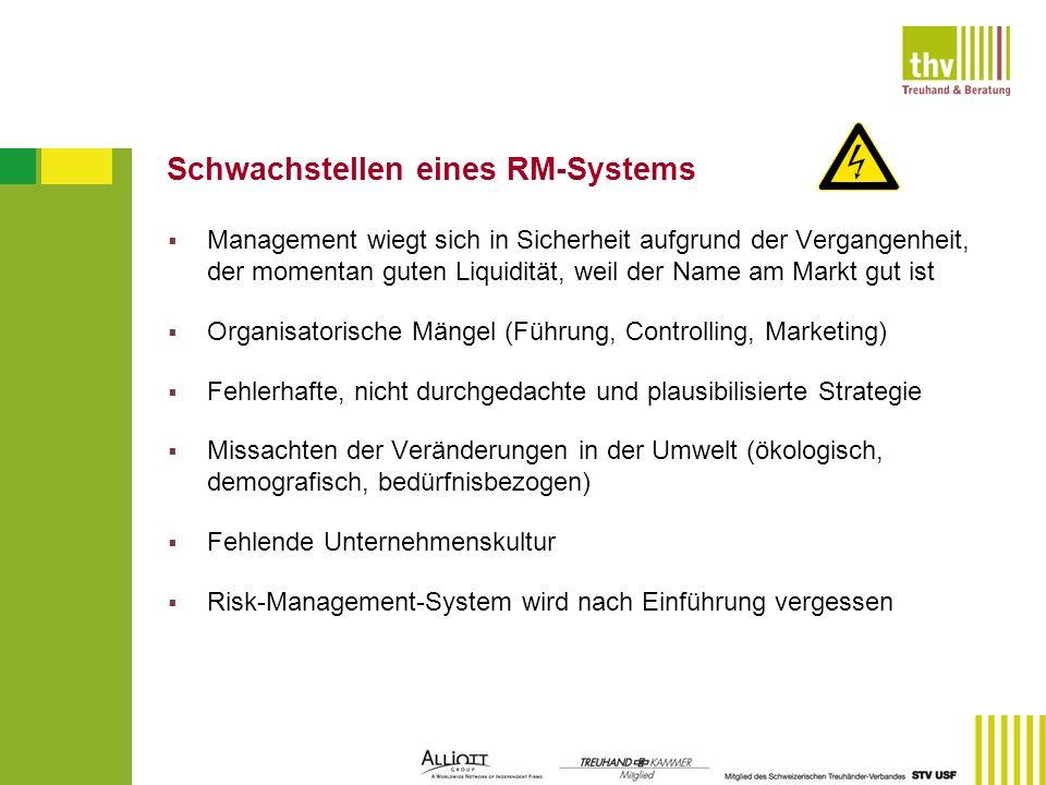 Schwachstellen eines RM-Systems