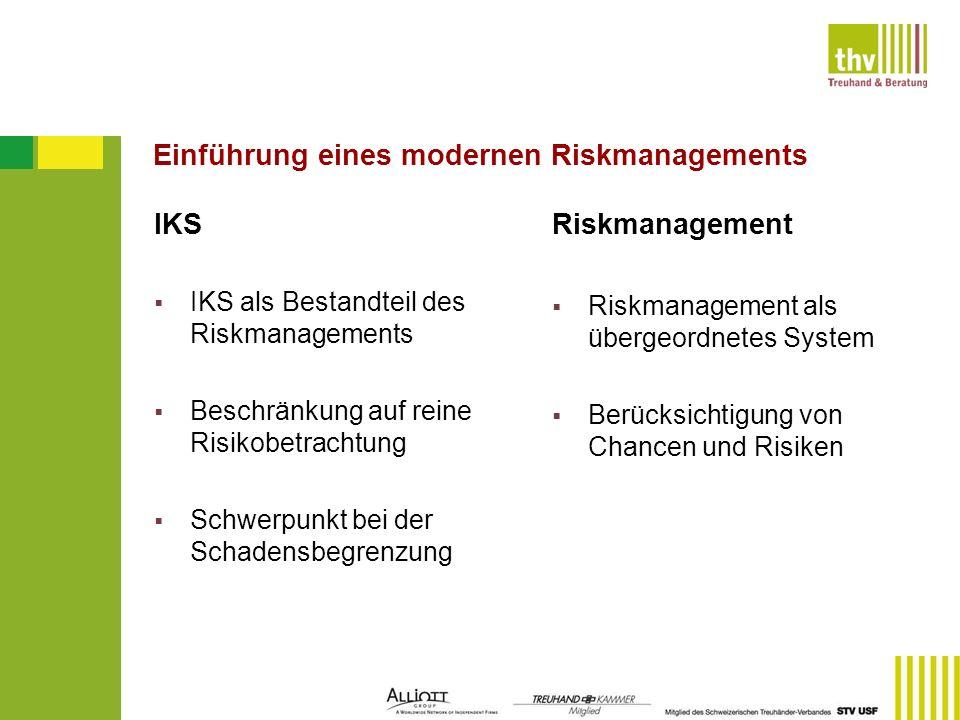 Einführung eines modernen Riskmanagements