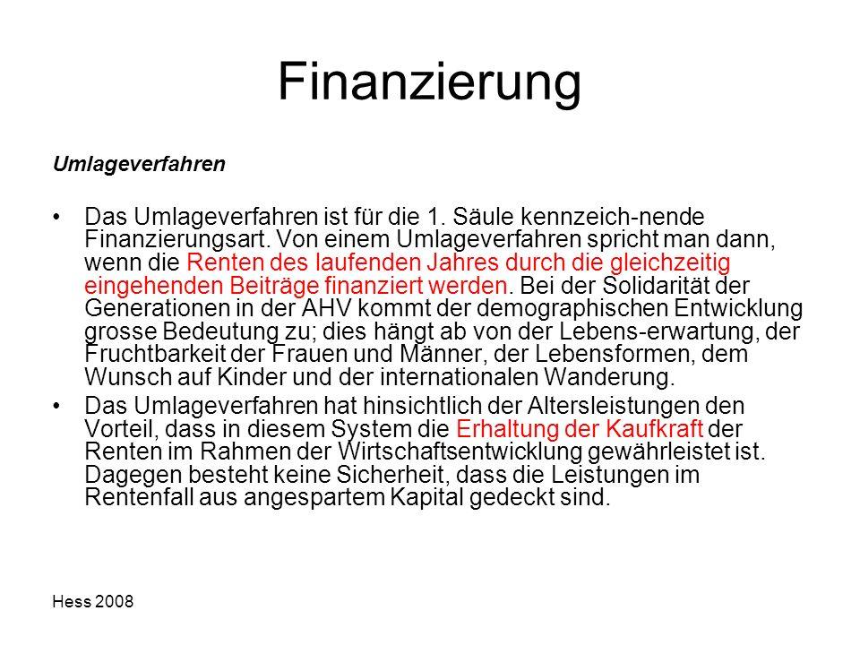 Finanzierung Umlageverfahren.