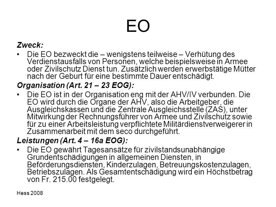 EO Zweck: