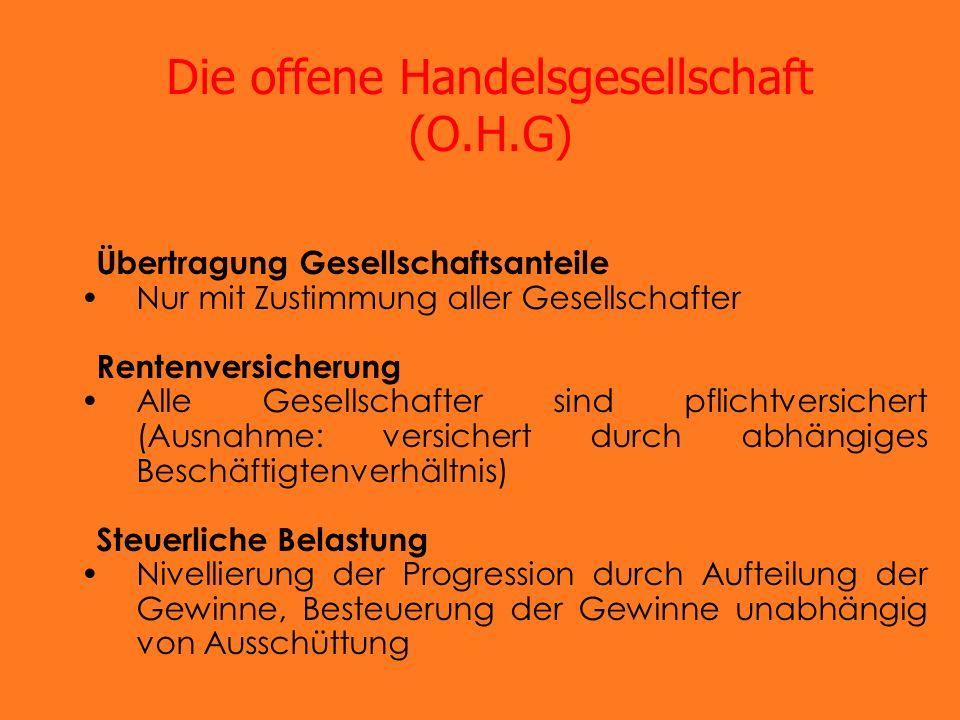 Die offene Handelsgesellschaft (O.H.G)