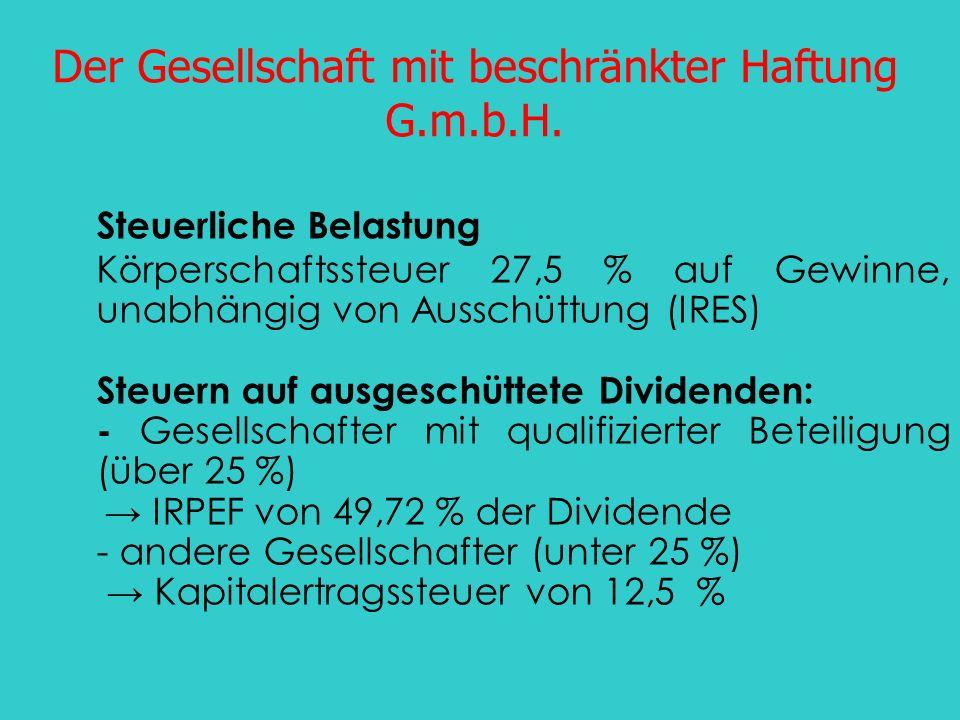 Der Gesellschaft mit beschränkter Haftung G.m.b.H.