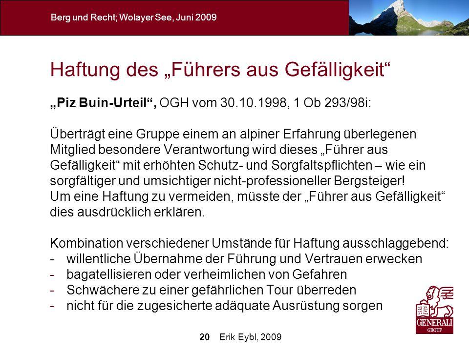 """Haftung des """"Führers aus Gefälligkeit"""