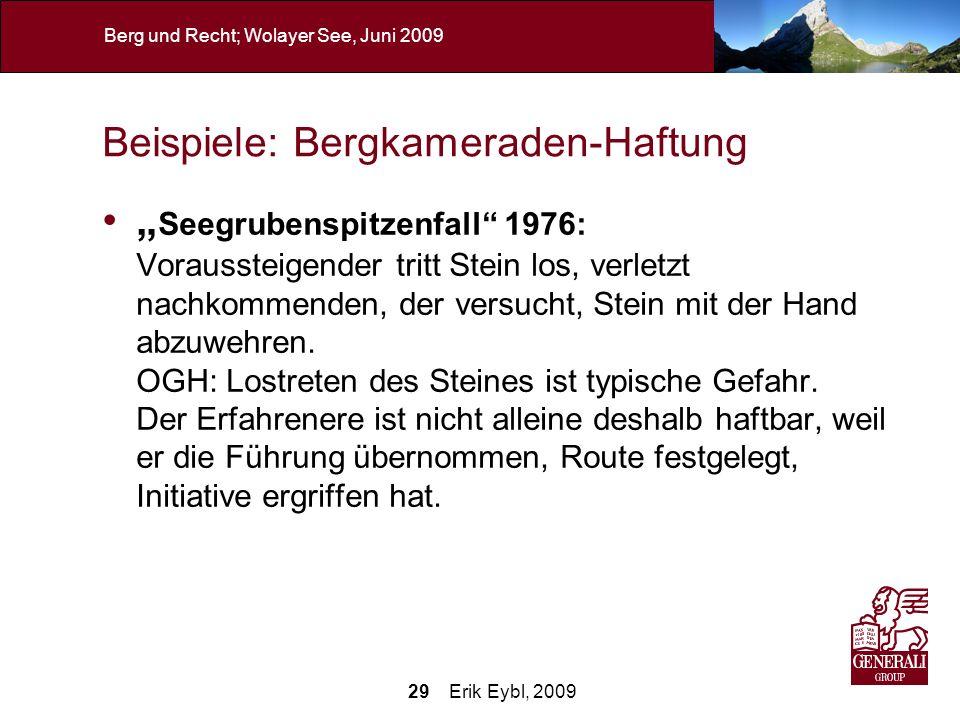 Beispiele: Bergkameraden-Haftung