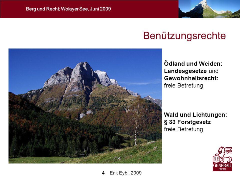 Benützungsrechte Ödland und Weiden: Landesgesetze und Gewohnheitsrecht: freie Betretung. Wald und Lichtungen: