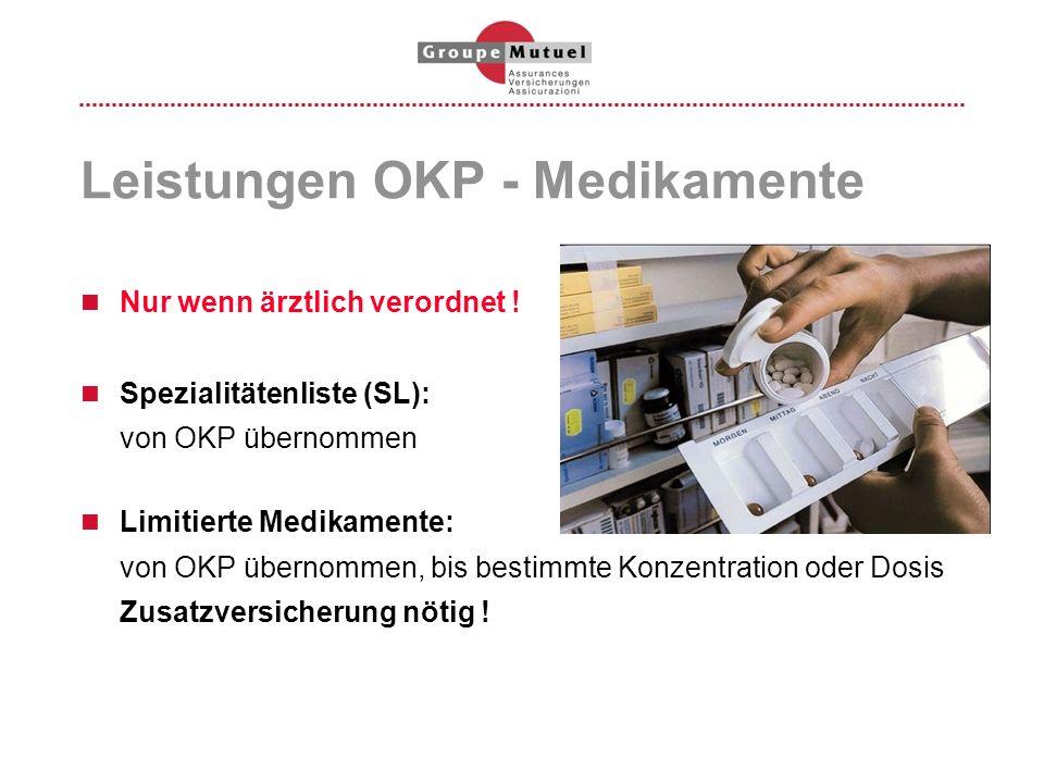 Leistungen OKP - Medikamente