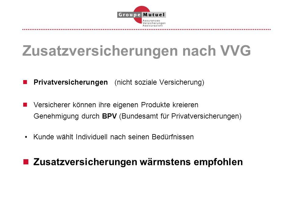 Zusatzversicherungen nach VVG
