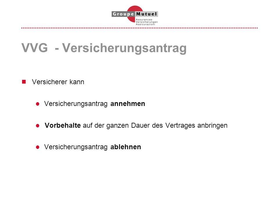 VVG - Versicherungsantrag