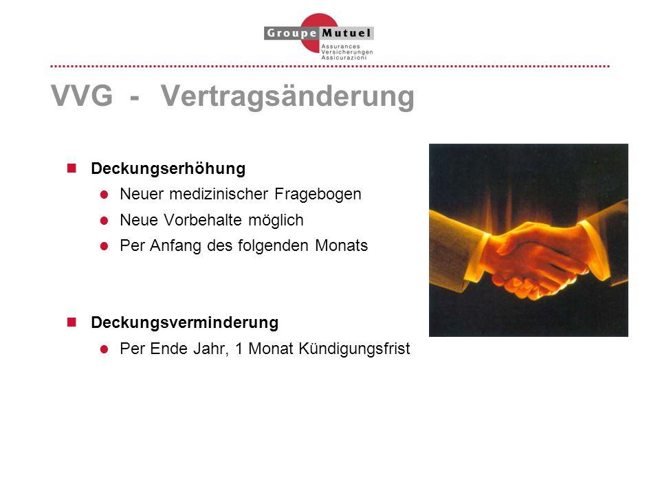 VVG - Vertragsänderung