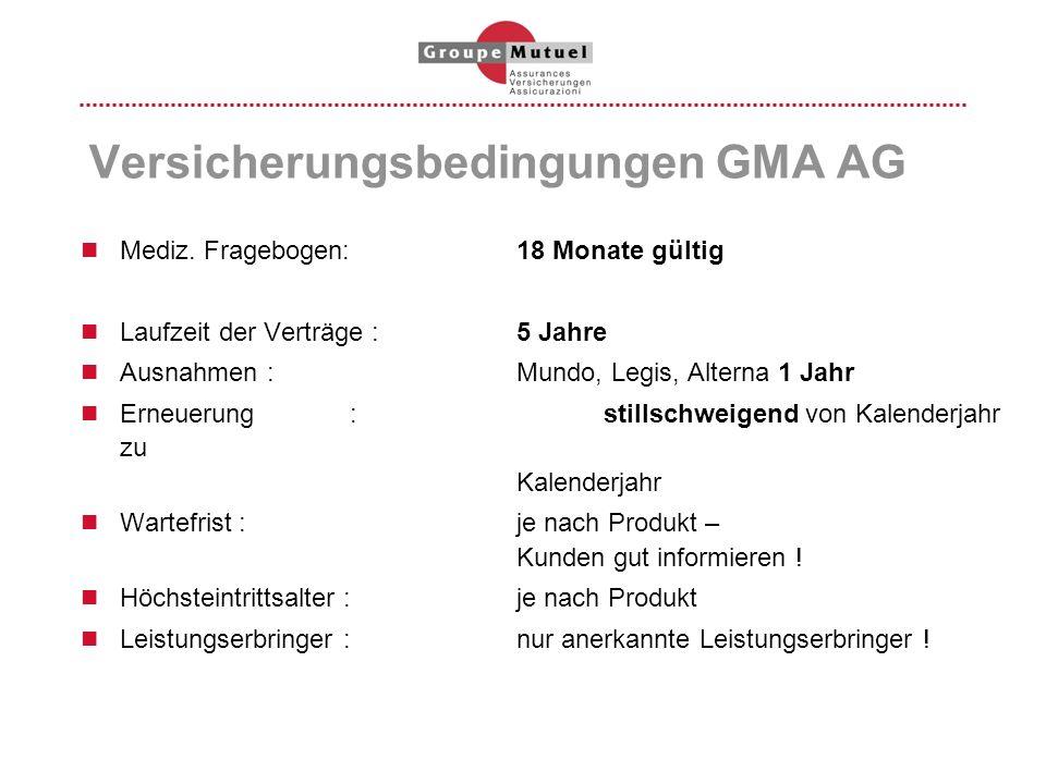 Versicherungsbedingungen GMA AG
