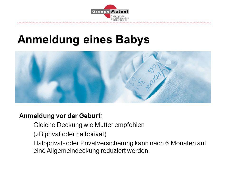 Anmeldung eines Babys Anmeldung vor der Geburt: