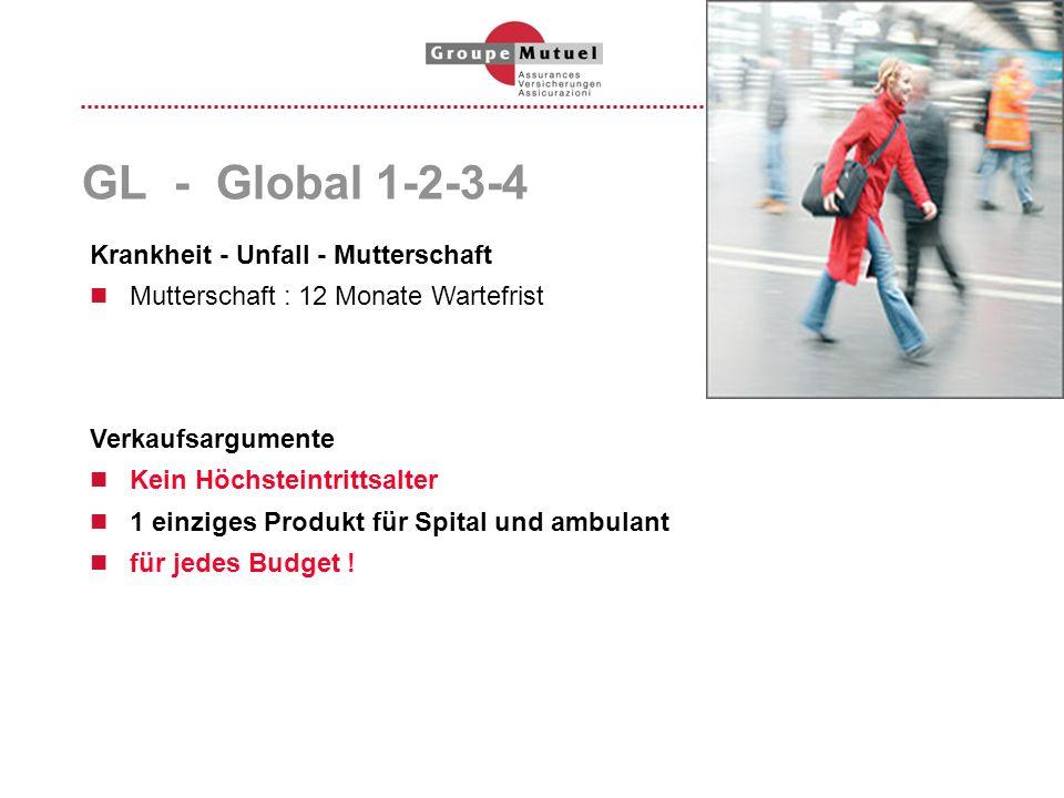GL - Global 1-2-3-4 Krankheit - Unfall - Mutterschaft