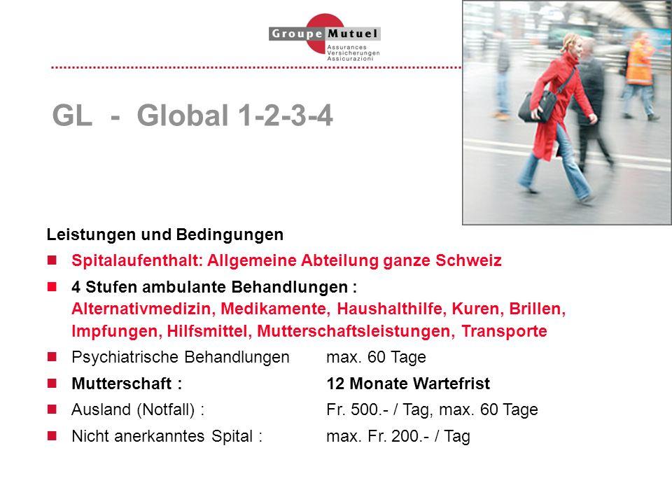 GL - Global 1-2-3-4 Leistungen und Bedingungen