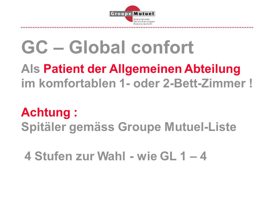 GC – Global confort