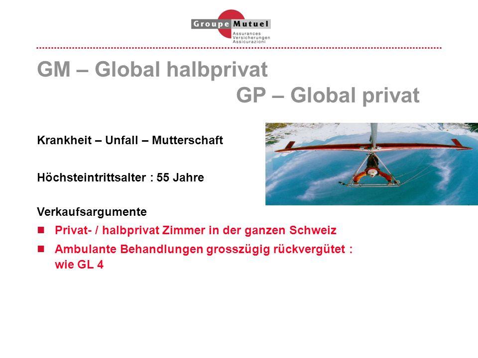 GM – Global halbprivat GP – Global privat