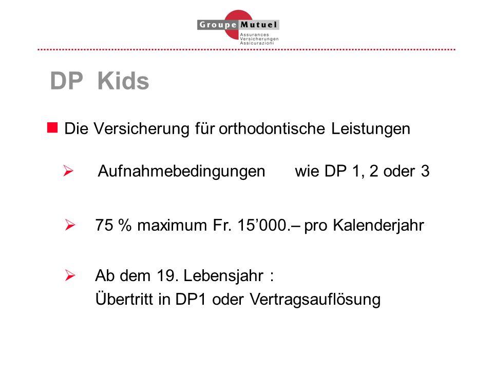 DP Kids Die Versicherung für orthodontische Leistungen