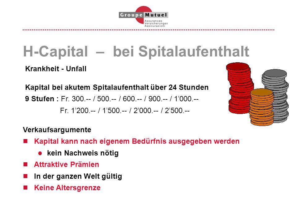 H-Capital – bei Spitalaufenthalt