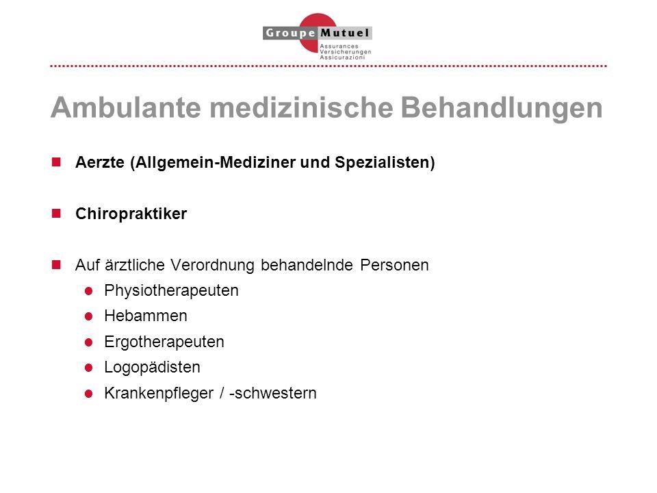 Ambulante medizinische Behandlungen