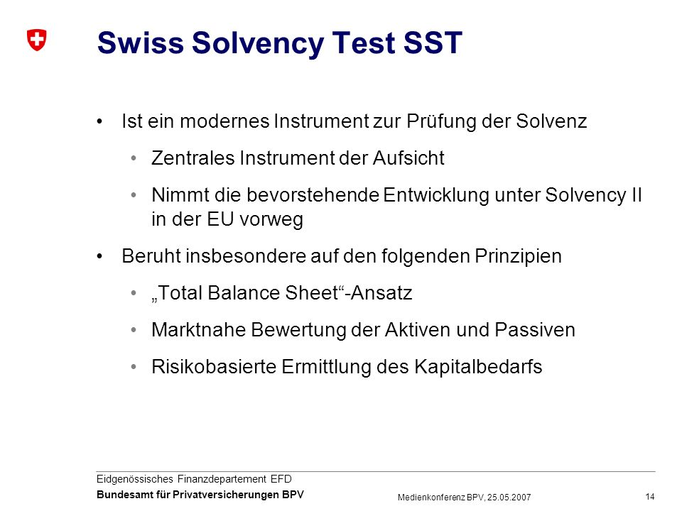 Swiss Solvency Test SST