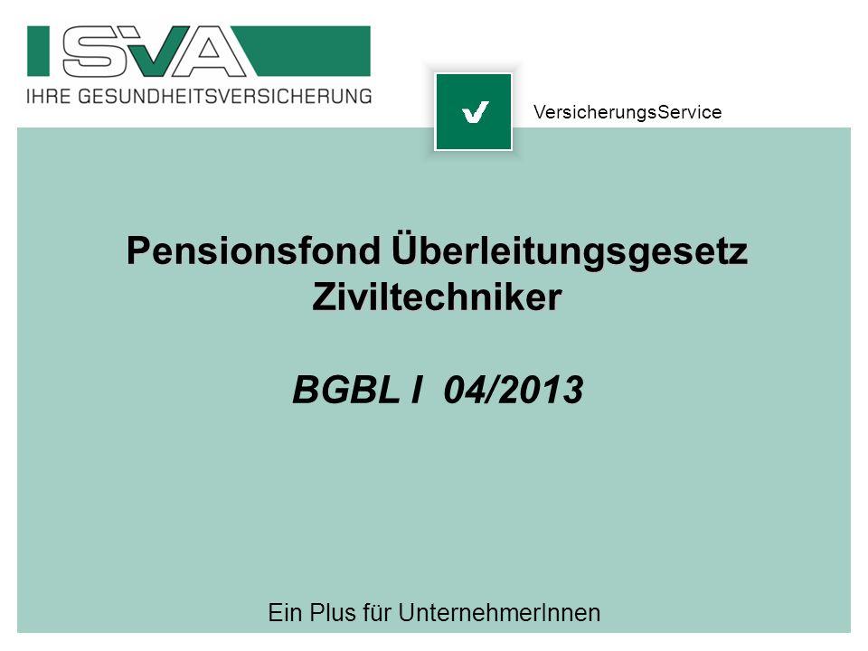Pensionsfond Überleitungsgesetz
