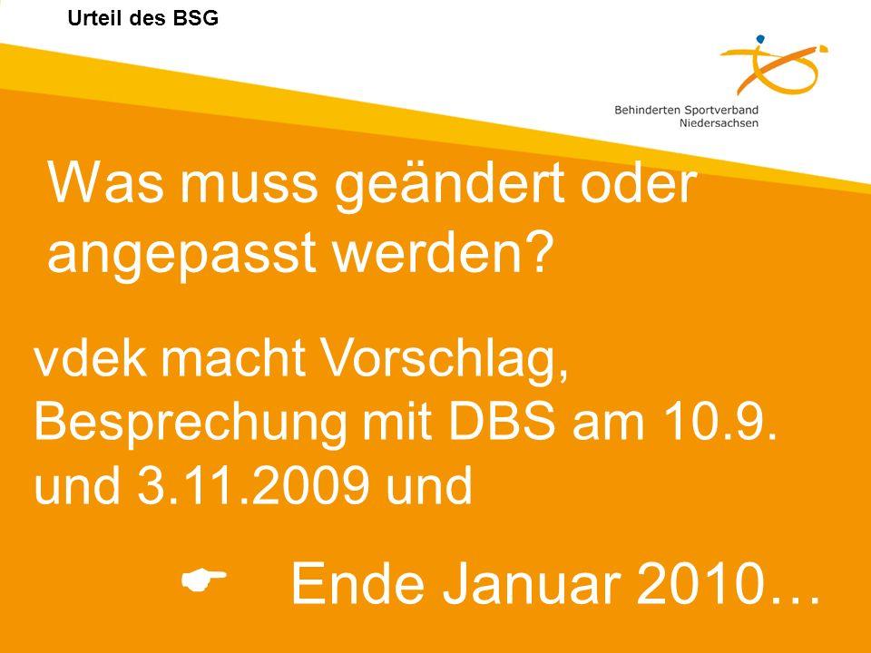 Was muss geändert oder angepasst werden E Ende Januar 2010…