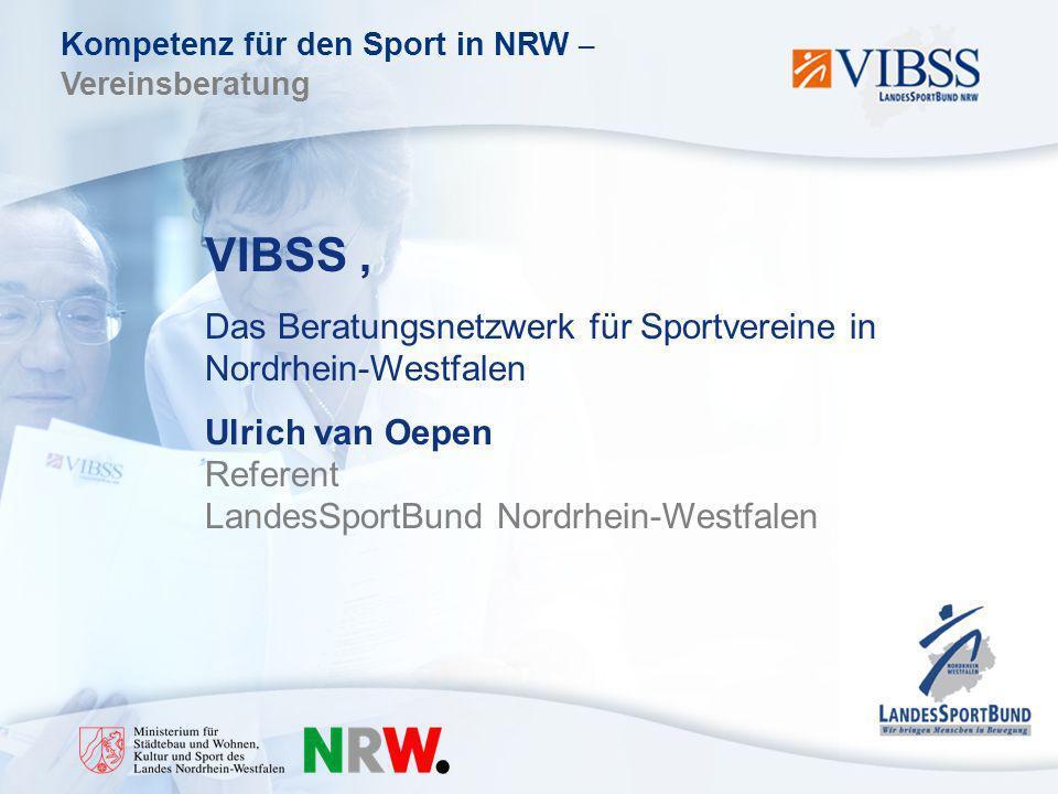 VIBSS , Das Beratungsnetzwerk für Sportvereine in Nordrhein-Westfalen