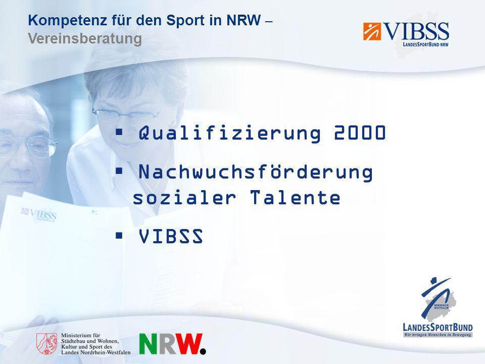 Qualifizierung 2000 Nachwuchsförderung sozialer Talente VIBSS