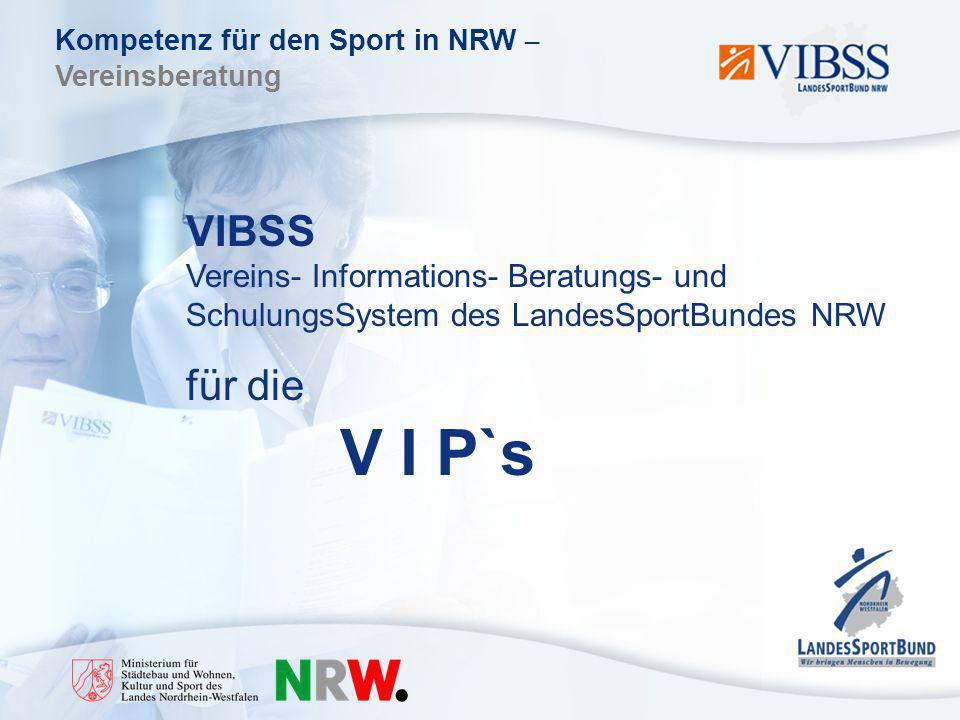 VIBSS Vereins- Informations- Beratungs- und SchulungsSystem des LandesSportBundes NRW