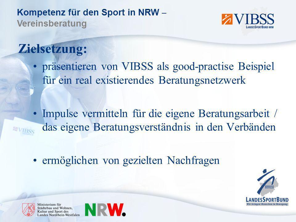 Zielsetzung: präsentieren von VIBSS als good-practise Beispiel für ein real existierendes Beratungsnetzwerk.