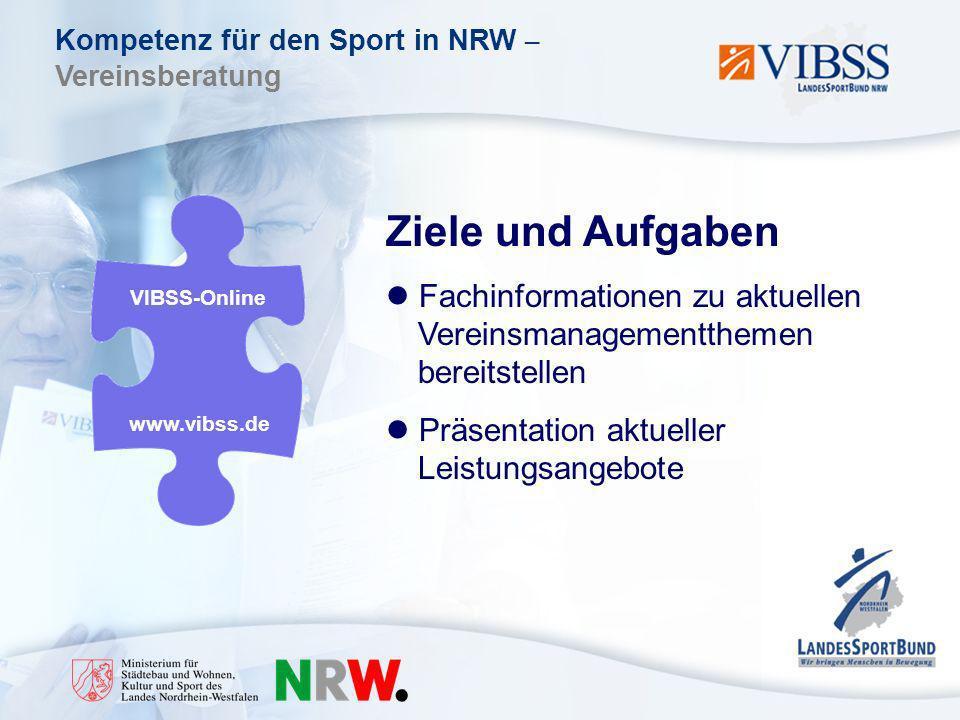 Ziele und Aufgaben Fachinformationen zu aktuellen Vereinsmanagementthemen bereitstellen. Präsentation aktueller Leistungsangebote.