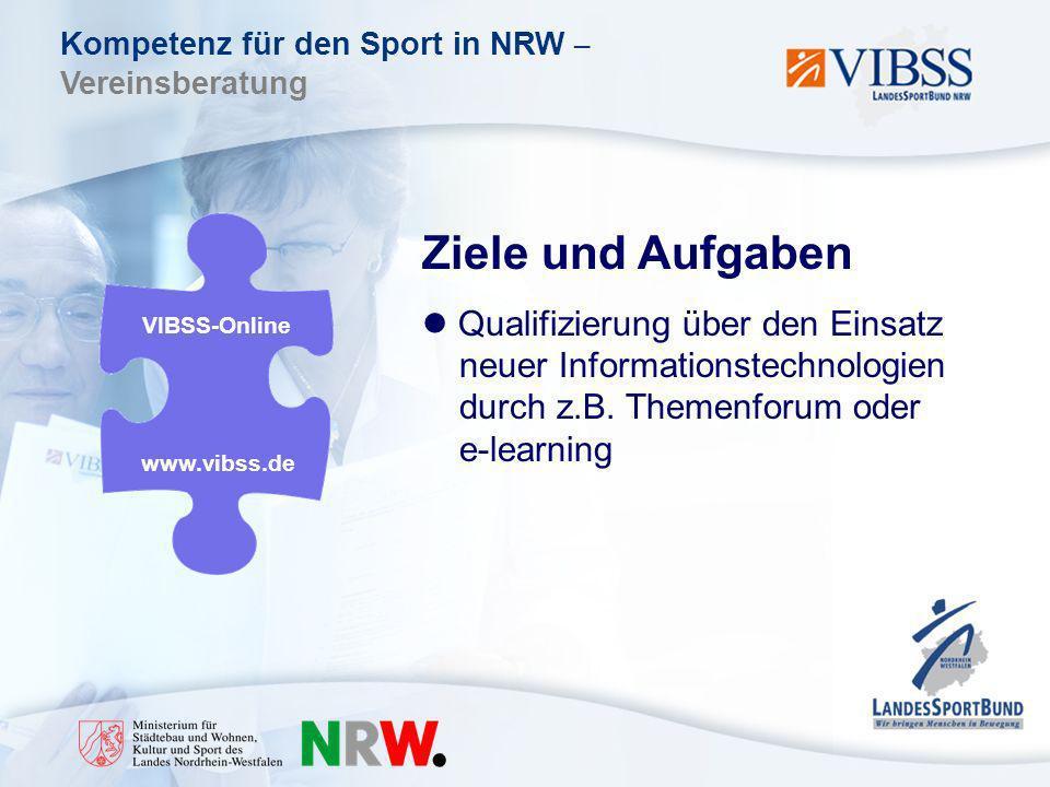 Ziele und Aufgaben Qualifizierung über den Einsatz neuer Informationstechnologien durch z.B. Themenforum oder e-learning.