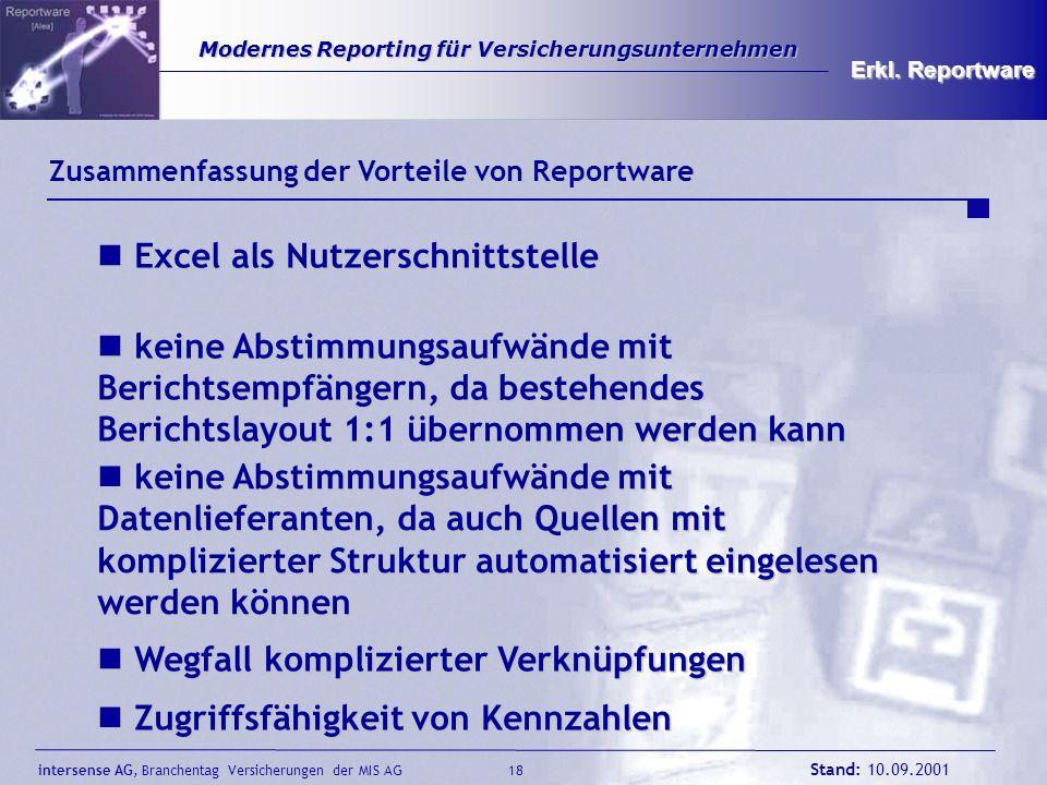 Excel als Nutzerschnittstelle