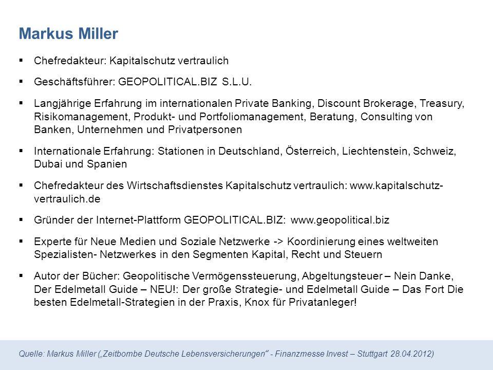 Markus Miller Chefredakteur: Kapitalschutz vertraulich