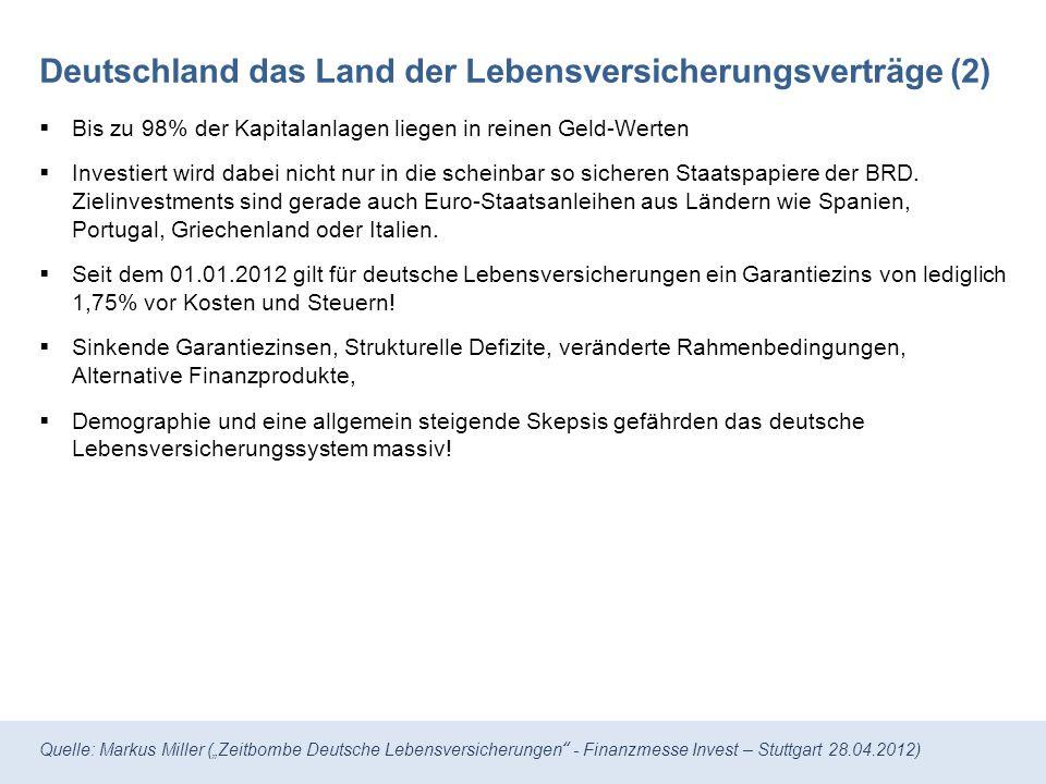 Deutschland das Land der Lebensversicherungsverträge (2)