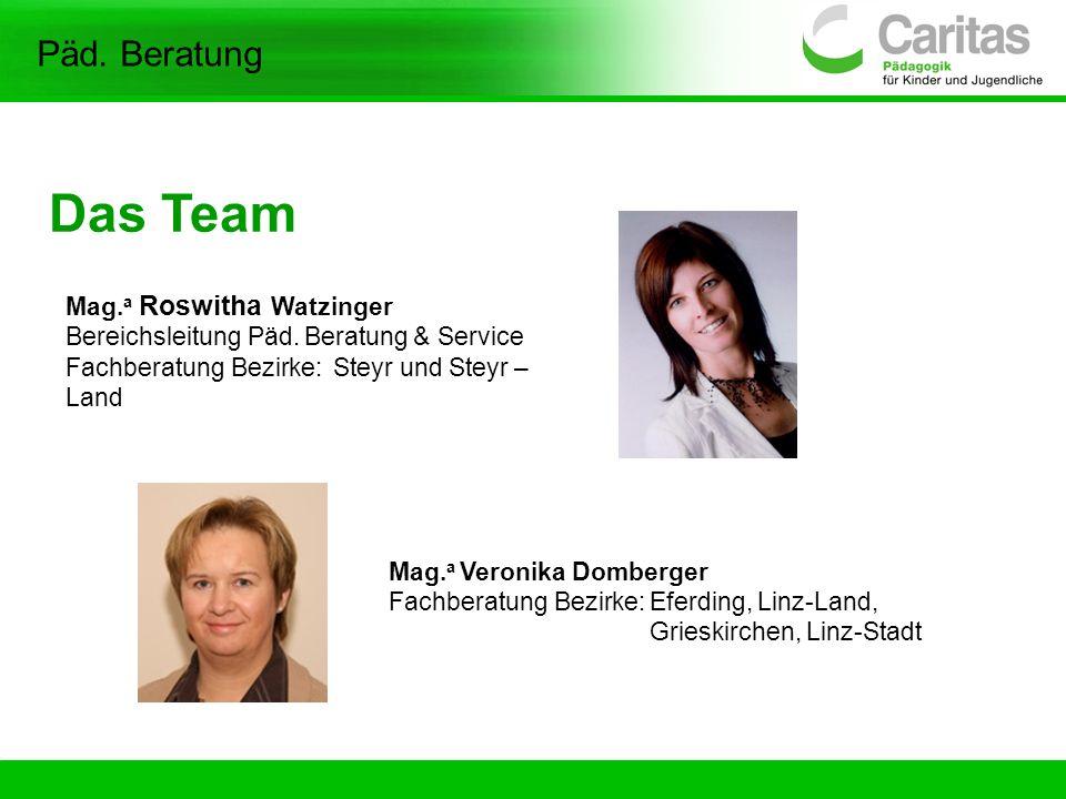 Das Team Päd. Beratung Mag.a Roswitha Watzinger