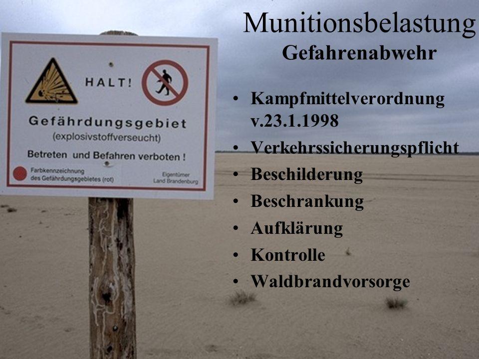 Munitionsbelastung Gefahrenabwehr