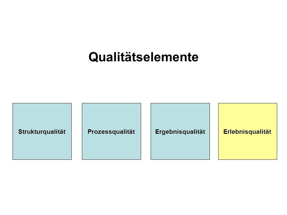 Qualitätselemente Strukturqualität Prozessqualität Ergebnisqualität