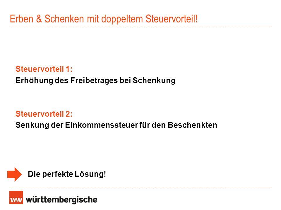 Erben & Schenken mit doppeltem Steuervorteil!