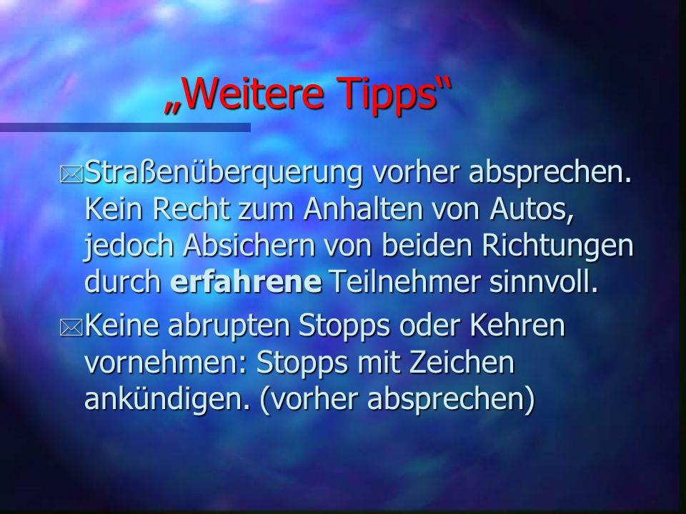 """""""Weitere Tipps"""