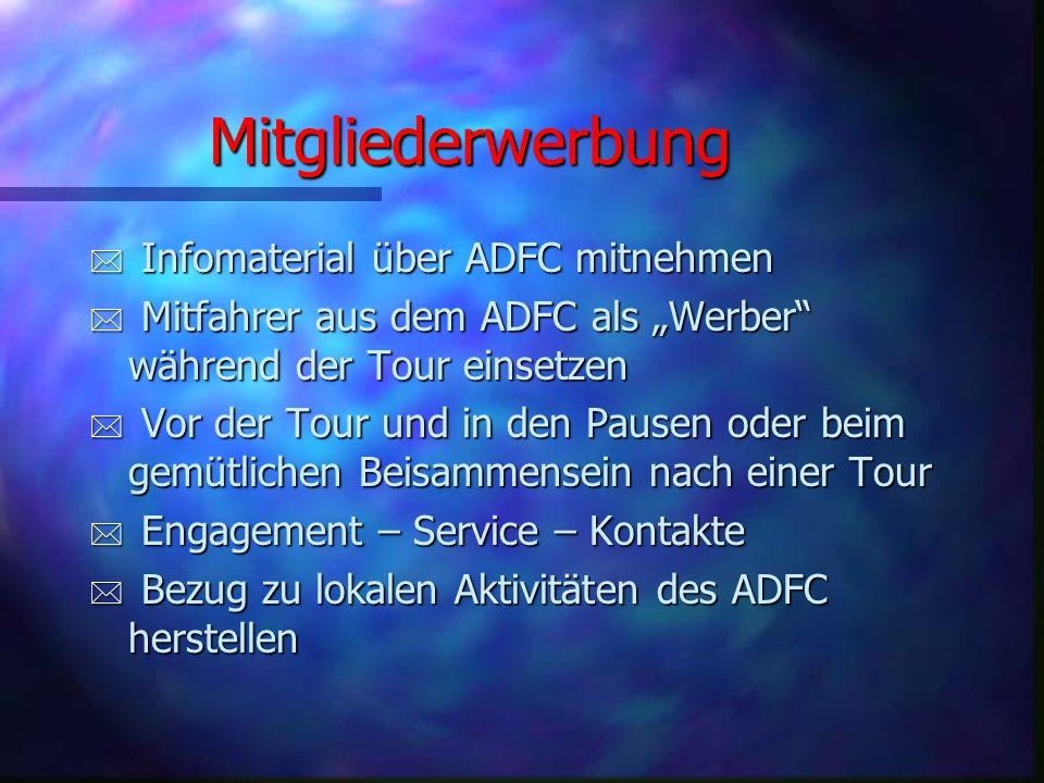 Mitgliederwerbung Infomaterial über ADFC mitnehmen