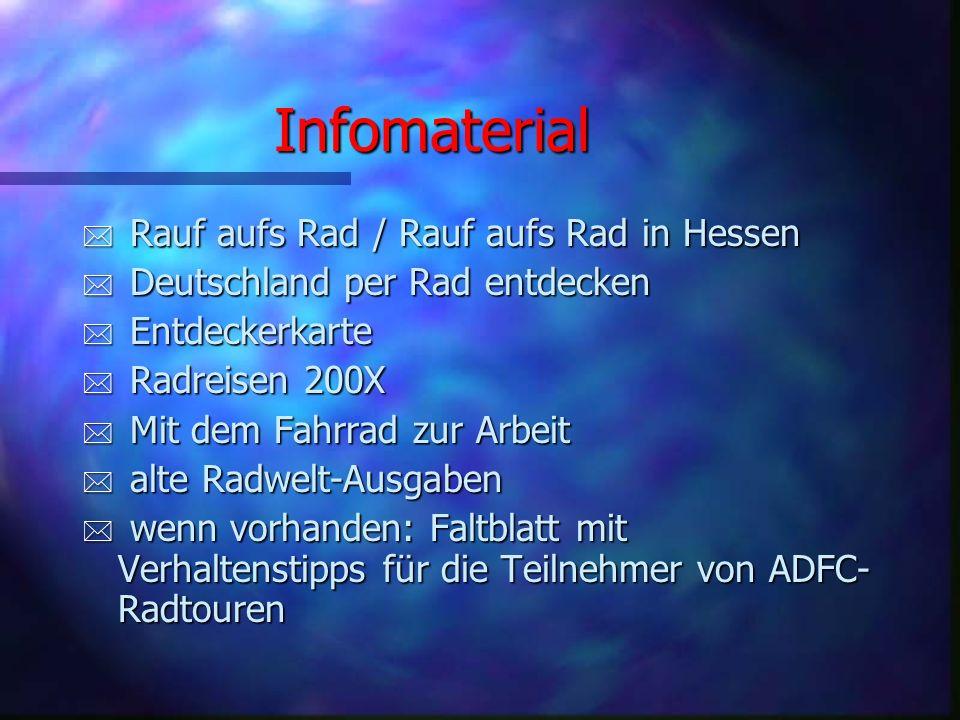 Infomaterial Rauf aufs Rad / Rauf aufs Rad in Hessen